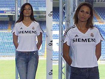 pretty nice 81b8b a63b8 Real Madrid 2005-2006 | The female line of the new kit for t ...