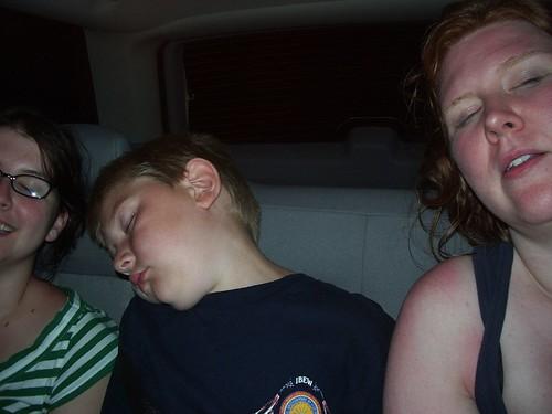 sleepy ride home.