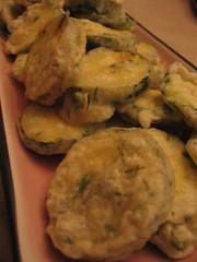 zucchini herb tempura