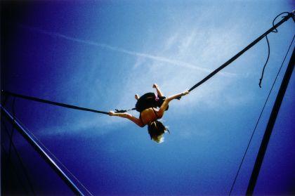 Lomokev - Julia on bungee trampoline #5