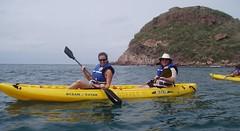 Dad and Jess kayaking