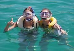 Jen and Jess scuba diving