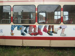 little feet on tram