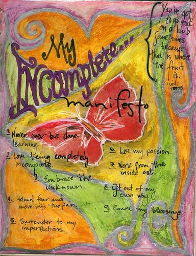 Incomplete Manifesto