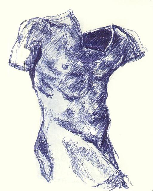 torso de la sombra - August Rodin