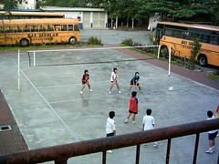 SYTs playing volleyball