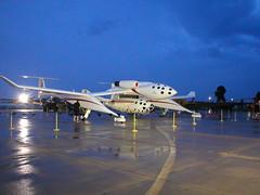 SpaceShipOne at night