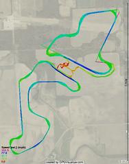 Autobahn GPS track map