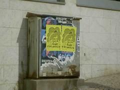 Cartazes na rua!