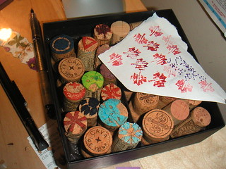 Box of cork stamps coming along | by Elaine with Grey Cats