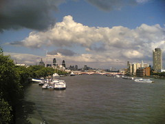 The view east from Waterloo Bridge, north side.