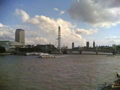 The view west from Waterloo Bridge, north side.
