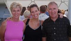 Mom, Jess, Dad on Cruise
