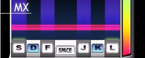 MX Style 的判定線並看不到判定板。