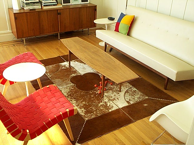Living Room With Cowhide Rug Expired Item Saved For
