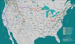 Sea-to-sea rounte map