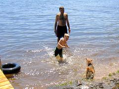 Annie at the lake