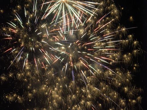 party - fireworks at Jingu-gaien, tokyo.
