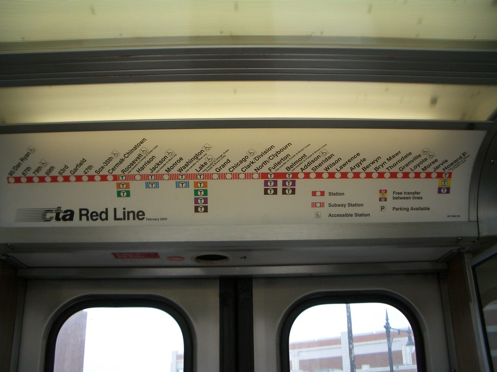 redLineMap | Map of the CTA Red Line | Joe Sislow | Flickr