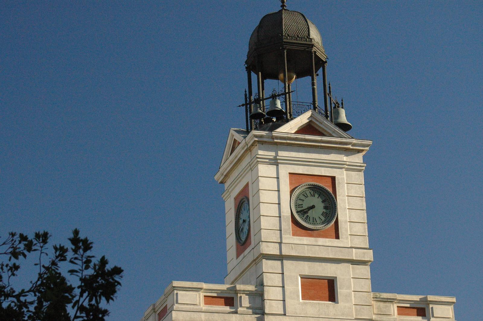 Reloj Puerta del Sol-Madrid