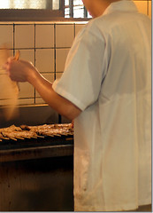 grilling eel @Obana
