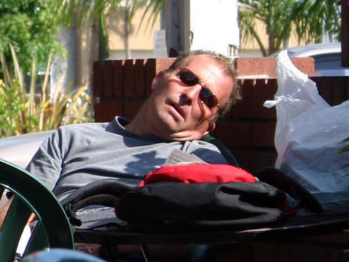 Sleeping Crazy Visor Guy (detail)