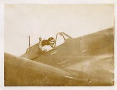 Grandpa in a jet plane circa 1945