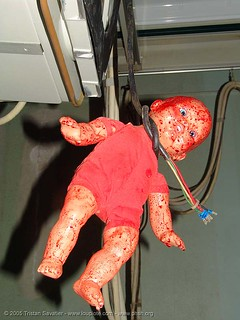 9943-phsh-bloody-doll-voodoo - hanging - Abandoned Hospital (Presidio, San Francisco) | by loupiote (Old Skool) pro