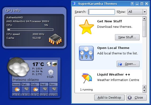 KDE 3.5 SuperKaramba