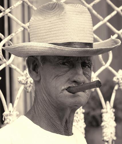 old man cigar