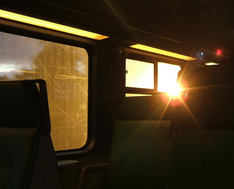 train lensflare