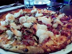 Prawn and chilli pizza