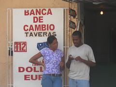 In front of a casa de cambio