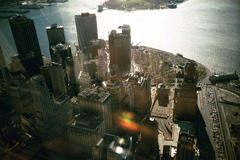 Lower Manhattan seen from the WTC