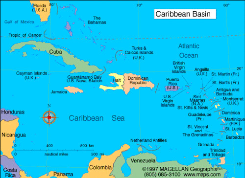 Hand-drawn Caribbean quiz Thursday | Students must be able t ...