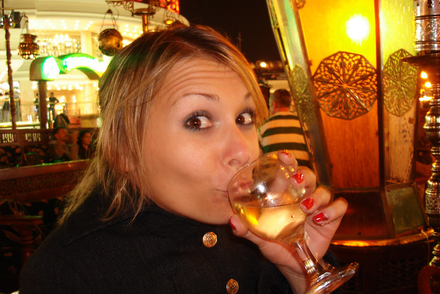 drinking wine in naama bay