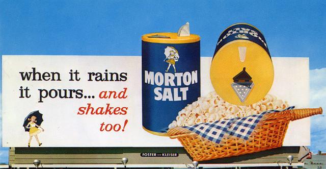 """Morton Salt """"3-D"""" Billboard, 1960's"""