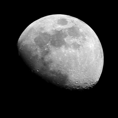 sky bw moon night lenstagged space craters crater top20moonshots gibbous canon75300f456 interestingness14 i500
