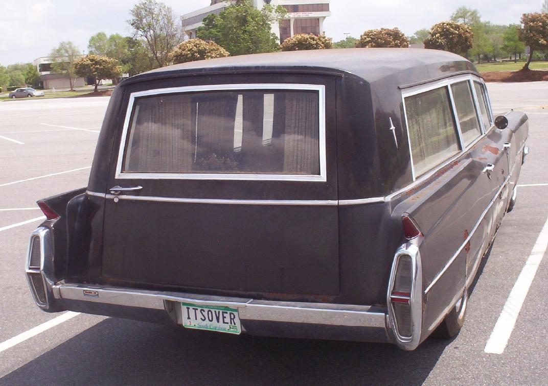 Back of 1964 Cadillac hearse