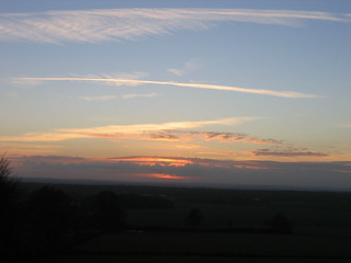 Sunset Winter sky in Kent.