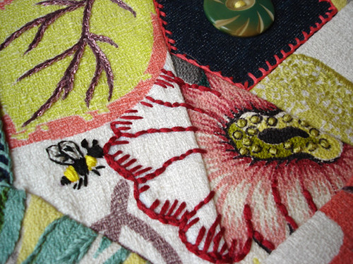 a closeup of my first crazy quilt block | by boltandfrolic