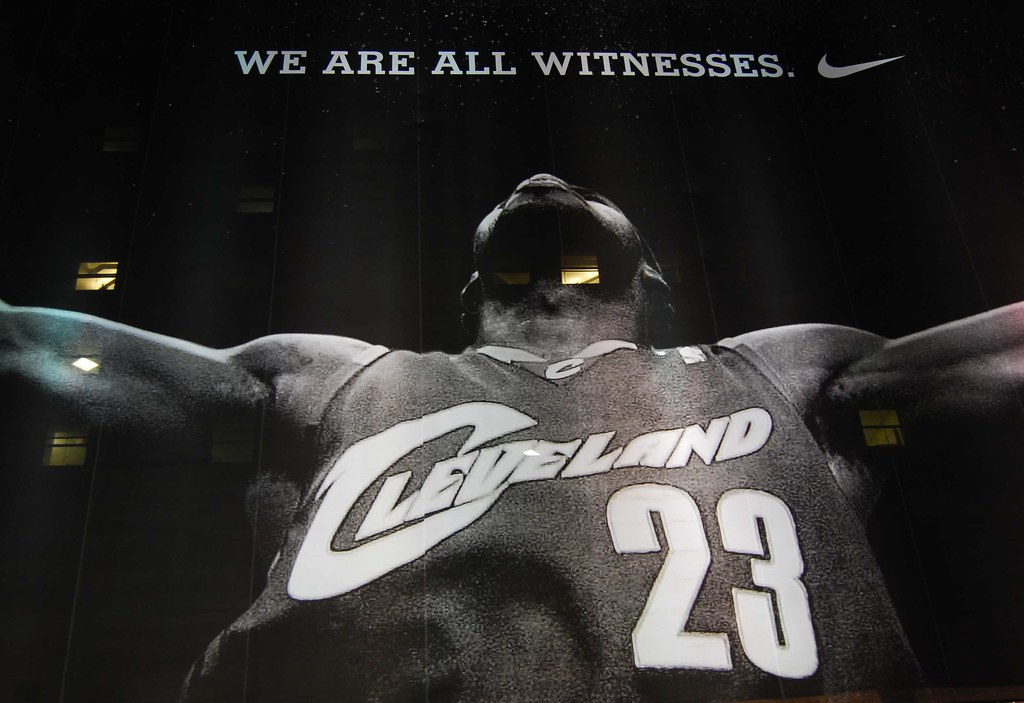 new concept 446a2 4db25 ... Giant LeBron poster, downtown Cleveland   by ronnie44052
