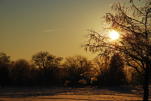 winter sunset ice silhouette iowa icestorm