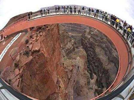 Horseshoe Shaped Glass Bridge The Grand Canyon Skywalk