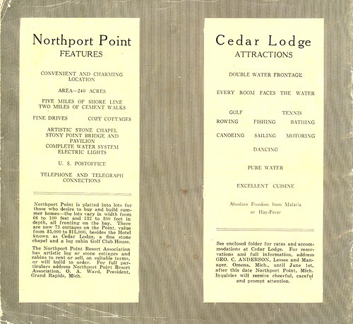 Leelanau Northport Point Antique Cedar Lodge Buildings Cottages and Attractions plus Owners List Booklet 2   by UpNorth Memories - Donald (Don) Harrison
