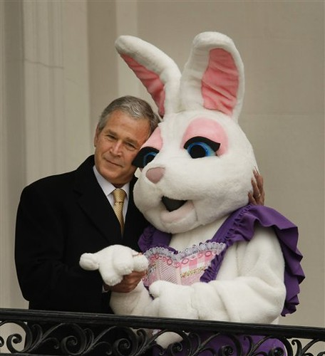 Bush and the Easter Bunny