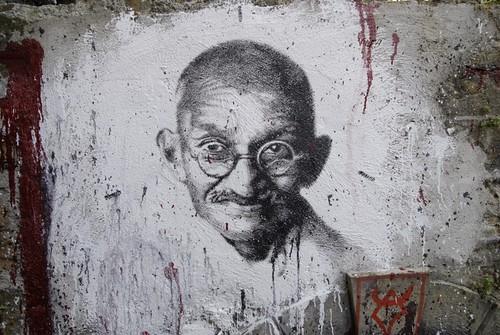 Mahatma Ghandi, painted portrait _DDC4621