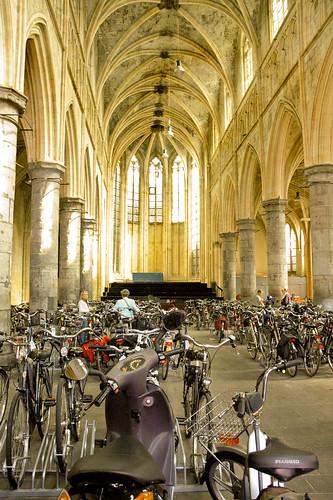 church with bikes | by olya