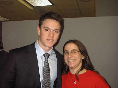 With Jonathan Toews | by Julie Rubes