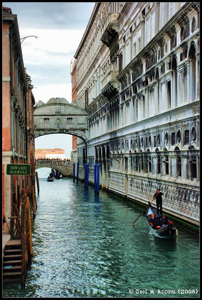 Venecia Italia Puente De Los Suspiros El Puente De Los Flickr